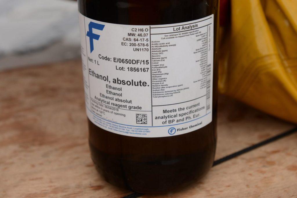 Ethanol 100% pour la conservation des copépodes